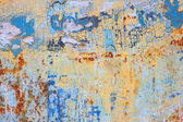 Rusty colorful Metal with cracked paint. — Stock Photo