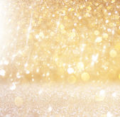Abstract photo of light burst and glitter bokeh lights. image is blurred and filtered . — Stock Photo