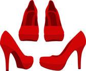 Chaussures rouges — Vecteur