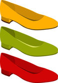Set of shoes — Stock Vector