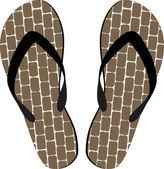 Sandals — Stock Vector