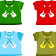 Set of Children's shirts — Stock Vector