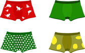 Set of men's underpants — Stock Vector