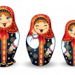 Stock Vector: RussiDolls Matrioshka