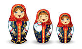 Muñecas rusas matrioshka — Vector de stock