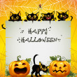 Royalty-Free Stock Vector Image: Black Cats Halloween background
