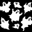 Set of halloween ghosts1 — Stock Vector #13639866