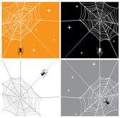 Vector de araña y telaraña fondos — Vector de stock