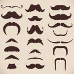 Set of brown mustache — Stock Vector #14294103