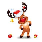 Смешные оленей Рождественский — Cтоковый вектор