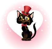 Cat lover in retro style. — Stock Vector