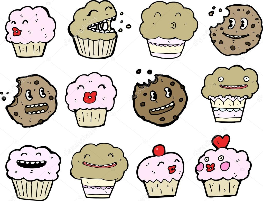 Cookies vs muffins cartoon  Stock Vector #12685477