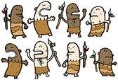 мультфильм племен — Cтоковый вектор