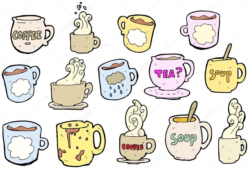 Cartoon Coffee And Tea