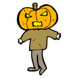Cartoon pumpkin head man — Stock Vector