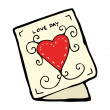 Cartoon love heart card — 图库矢量图片