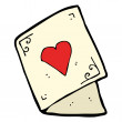 Stockvektor : Cartoon love heart card