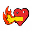 Royalty-Free Stock Vector Image: Burning heart