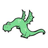Kreslené vtipné drak — Stock vektor