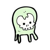Cartoon skull monster — Stock Vector