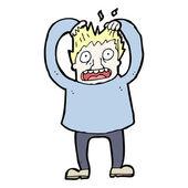 Man tearing out hair cartoon — Wektor stockowy