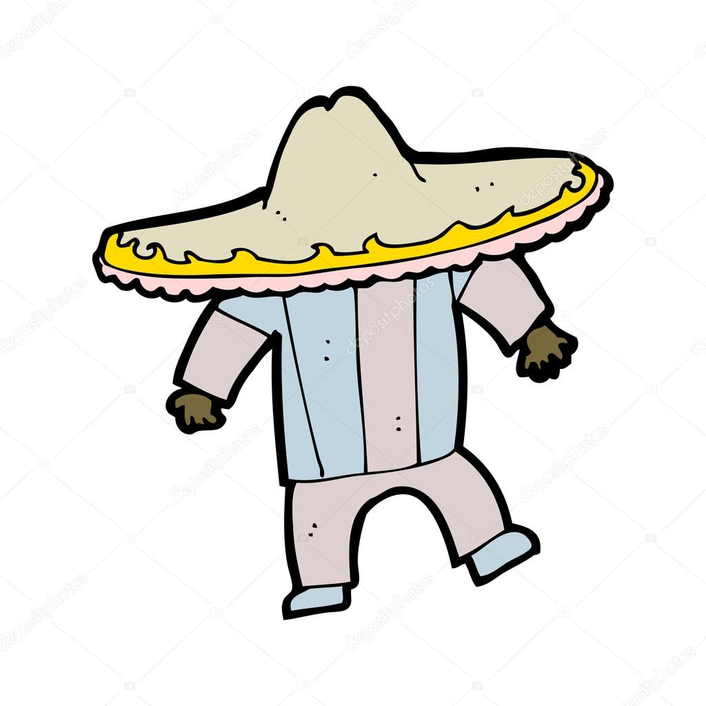 Cartoon mexican man in big hat — Stock Vector ...