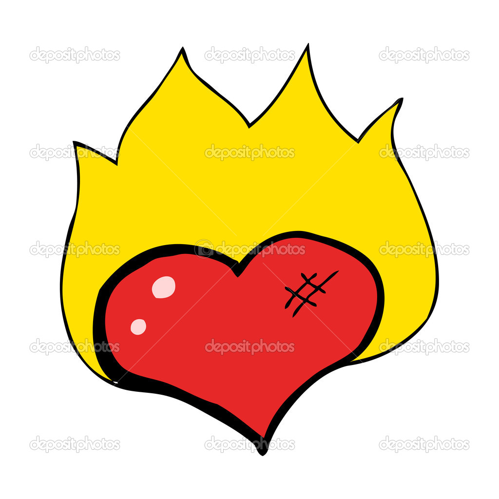 Burning heart — Stock Vector #13137675