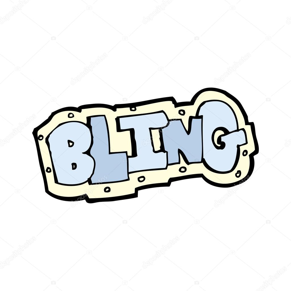 Cartoon bling sign — Stock Vector #13138166