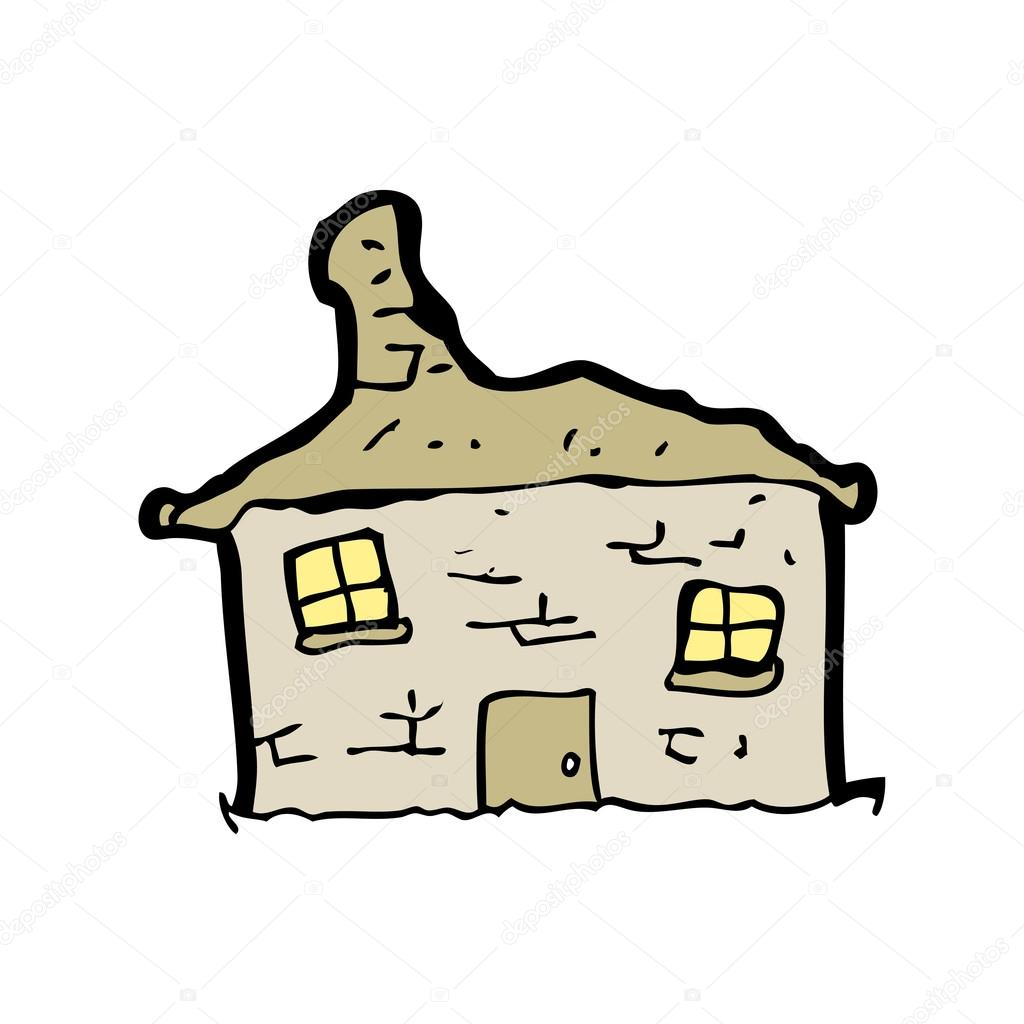 Cartoon tumbledown old house — Stock Vector © lineartestpilot #13138245