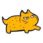 Funny cartoon cat — Stock Vector