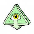 Stock Vector: Cartoon all seeing eye symbol