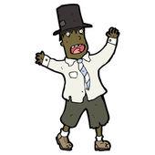 Cartoon hobo in top hat — Stock Vector