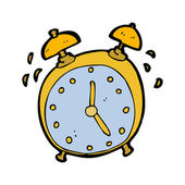 Ringing alarm clock cartoon — Stock Vector