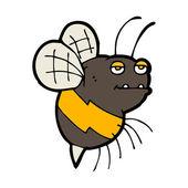 Grappige cartoon bee — Stockvector