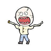 Ontsnapte waanzinnige cartoon — Stockvector
