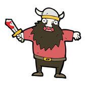 Viking warrior cartoon — Stock Vector