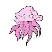 Funny jellyfish cartoon — Stok Vektör