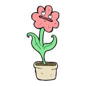 Cartoon flower character — Stock Vector