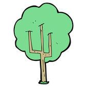 Karikatür ağaç — Stok Vektör