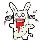 Crazy cartoon music rabbit — Stock Vector