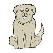 Big drooling dog cartoon — Stock Vector