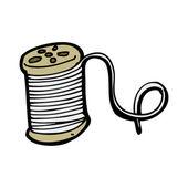 Cartoon reel of thread — Stock Vector