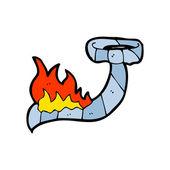 Burning tie cartoon — Stock Vector