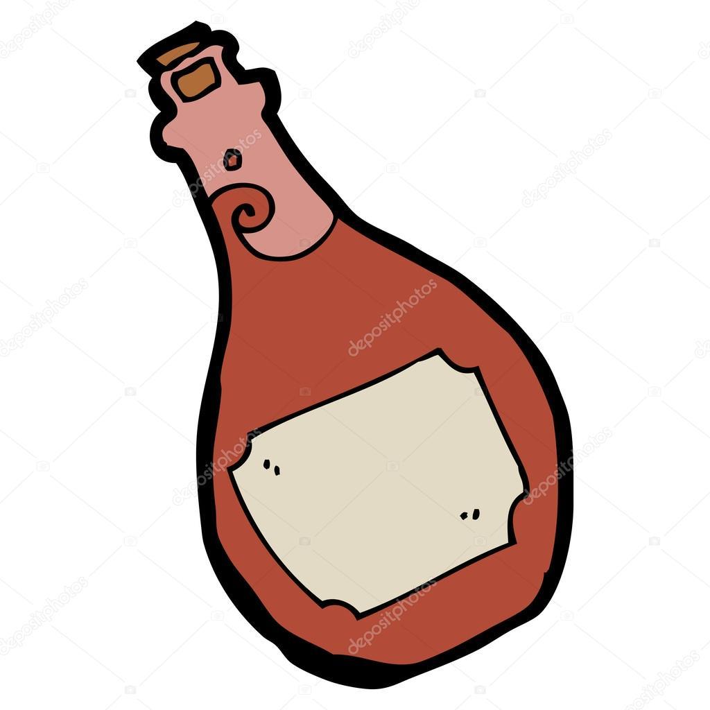 卡通朗姆酒瓶 — 矢量图片作者