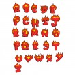 Royalty-Free Stock Immagine Vettoriale: Clipart Red Flaming Capital Letters - Royalty Free Vector