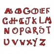 图库矢量图片: Clipart Red Flaming Capital Letters - Royalty Free Vector