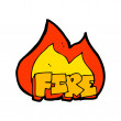 Stock Vector: Cartoon fire