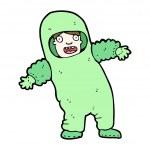 Bio hazard suit cartoon — Stock Vector
