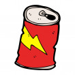 Drinks can cartoon — 图库矢量图片