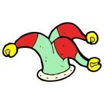 Cartoon jester hoed — Stockvector